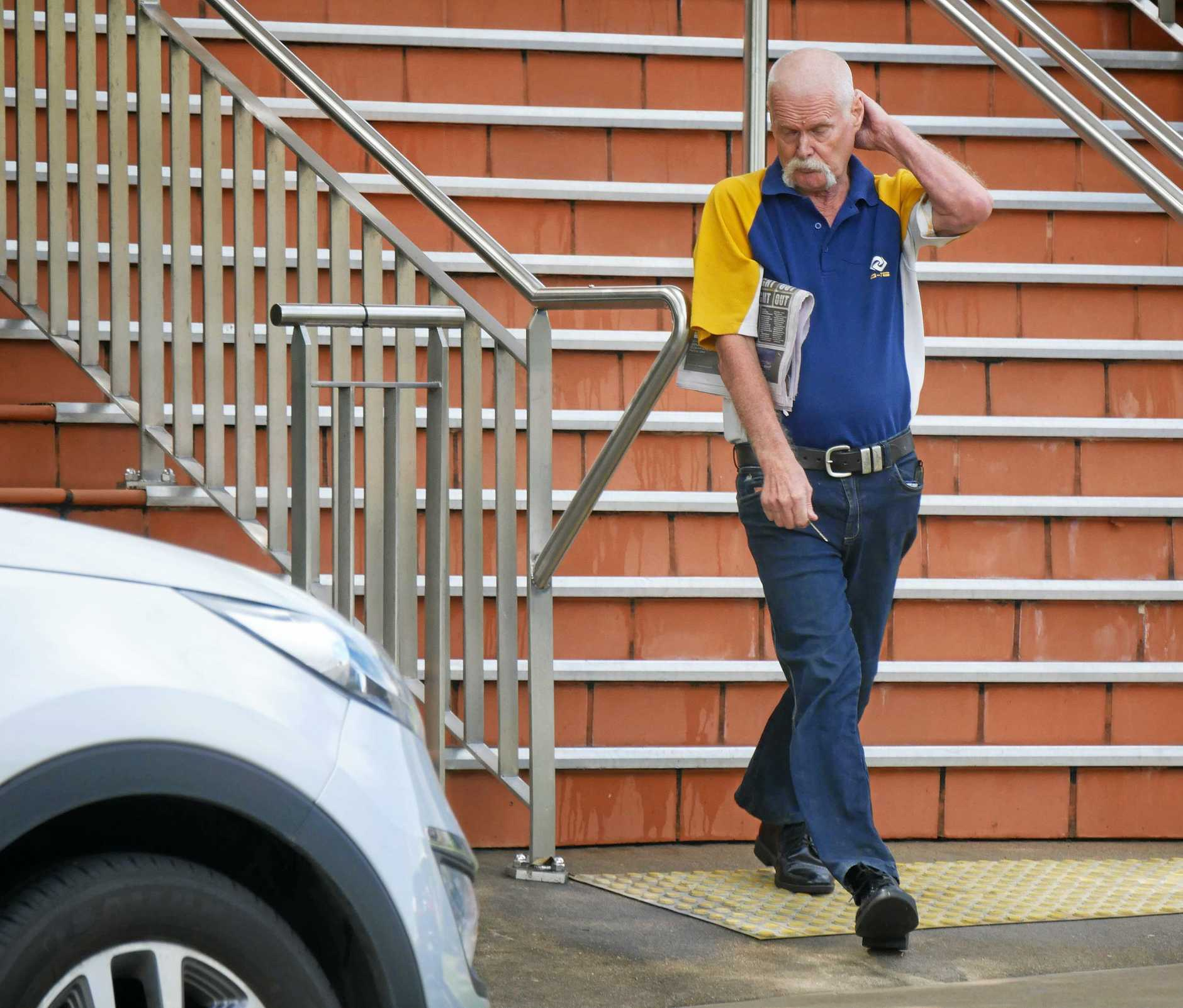 Kerry Eaton Ezzy, 65, outside Hervey Bay Magistrates Court.