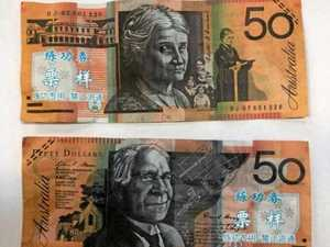 Fake $50 notes found 'floating' down a CQ street