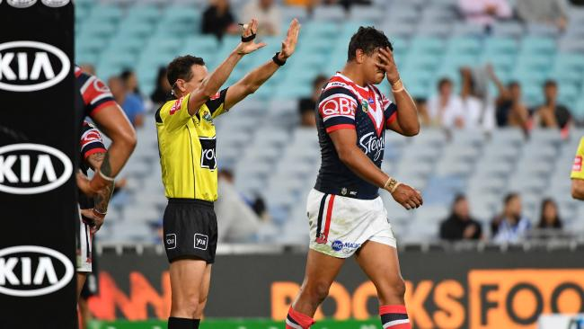 Defensive issues could cost Latrell Mitchell a NSW spot.