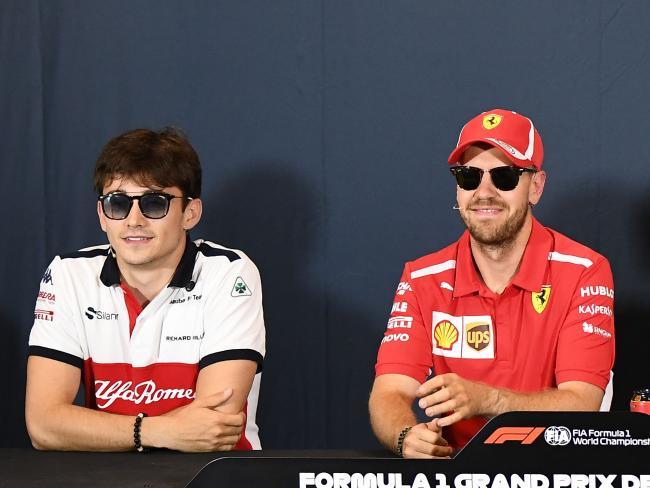 Charles Leclerc and Sebastian Vettel living it up in Monaco.