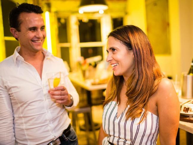 Vanessa Juresic with partner Patrick Callachor.