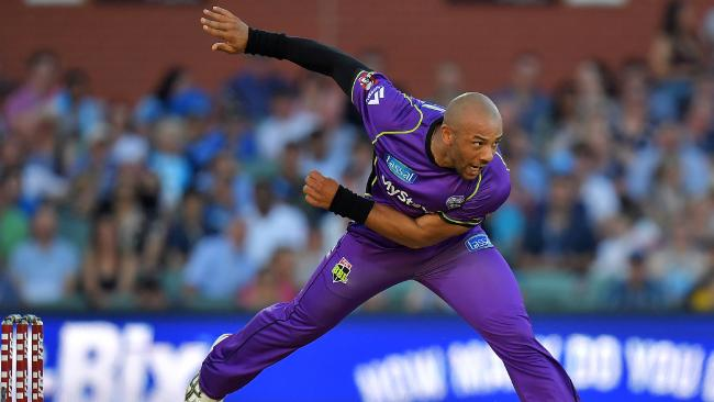 Tymal Mills has another year left on his contract with the Hobart Hurricanes. Picture: GETTY
