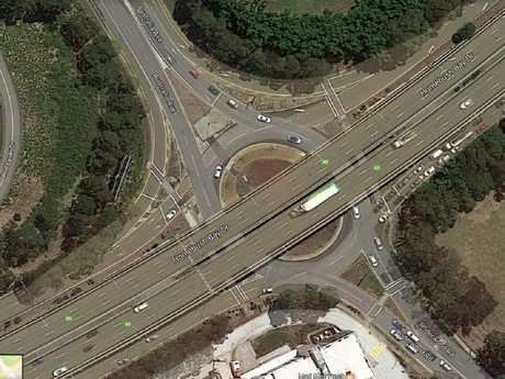"""Australia's """"worst"""" roundabout, at Olympic Park. Pictured at a rare quiet moment."""