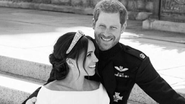 One of Prince Harry and Meghan Markle's official wedding day photos. Credit: Kesington Palace/News Pictures/MEGA