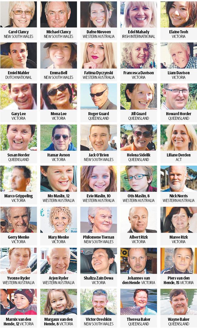 MH17 Australian victims.