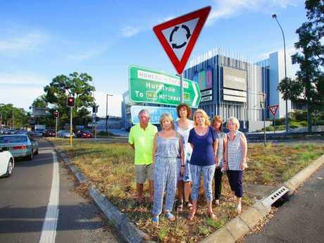 Australia's terrible roundabout at Homebush Bay Drive, Sydney Olympic Park.