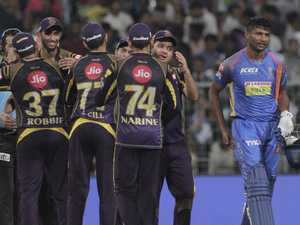 Knight Riders back from brink to dump Warne's Royals