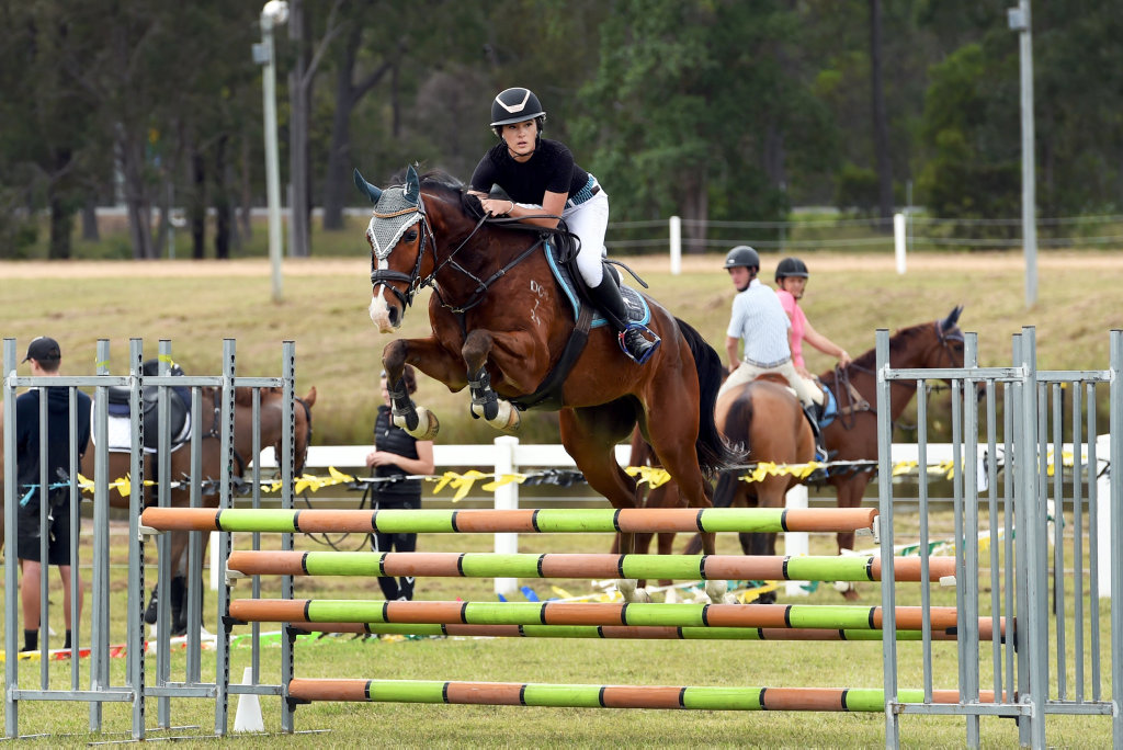 Image for sale: The Fraser Coast Show, Maryborough Showgrounds - One metre show jumping open rider class - Bree Wiblen.