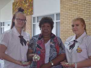 FROM LEFT: Year 11 student Rhianna Pigram, Aunty