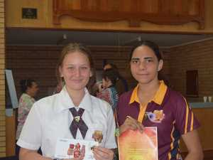 Year 11 student Natilee Anneveldt (left) and Year 10