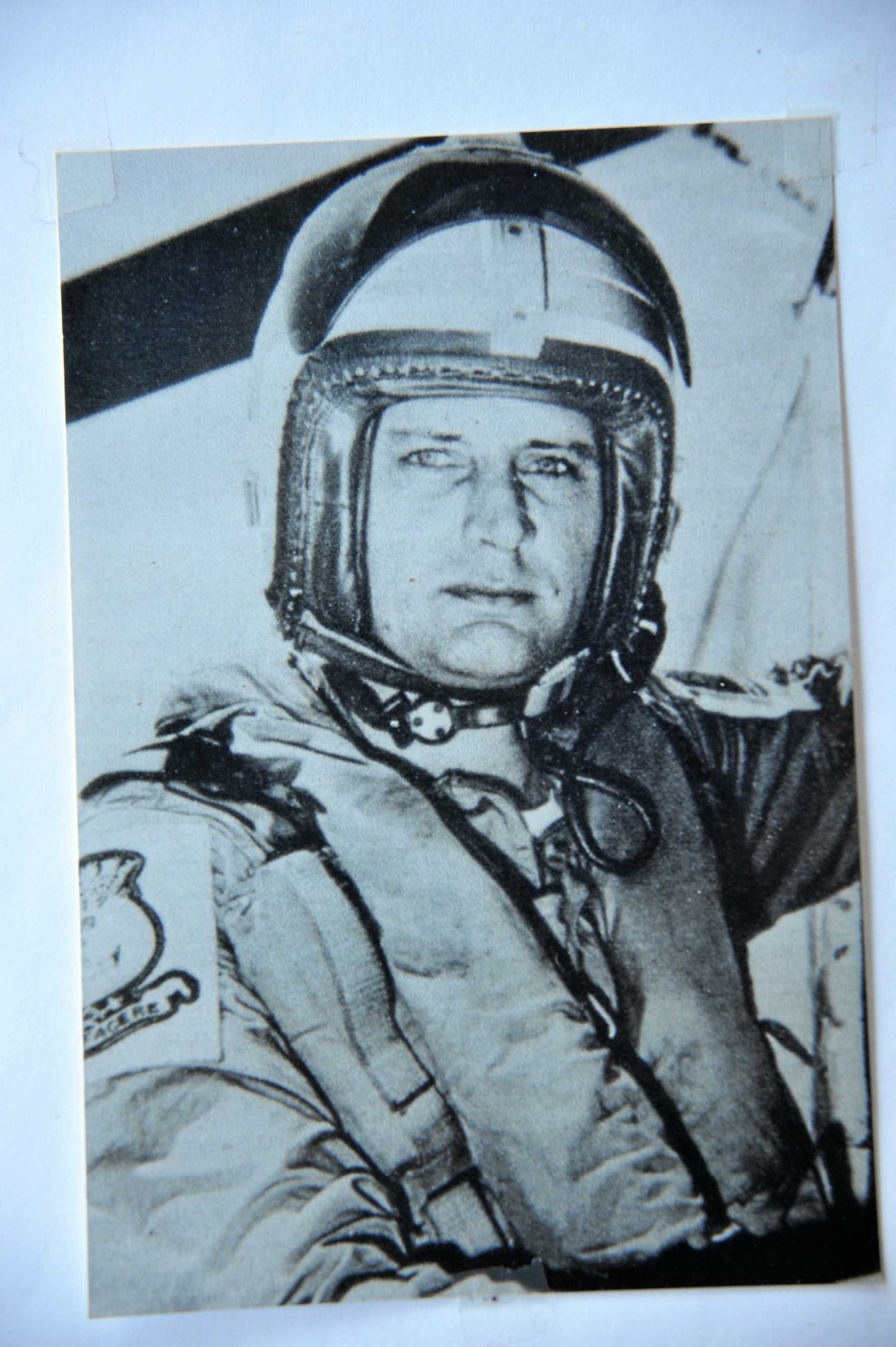 Pat Vickers in his chopper in 1957, a year before he was killed.