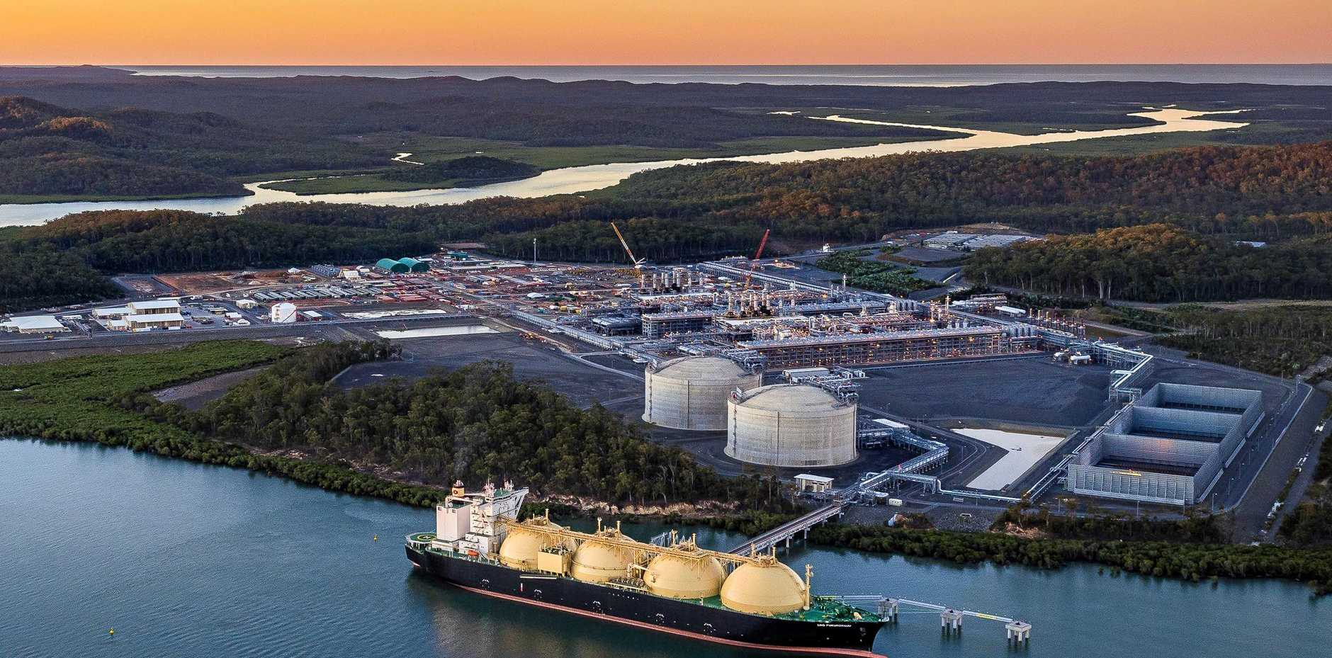 WHAT'S NEXT?Australia Pacific LNG was one of three plants at Curtis Island to cause huge economic growth for Gladstone in the past five years. (INSET) CQUniversity resource economist professor John Rolfe.