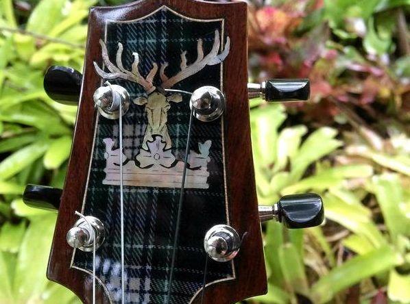 SCOTS UKE: Graham Long's Scottish themed custom built ukulele
