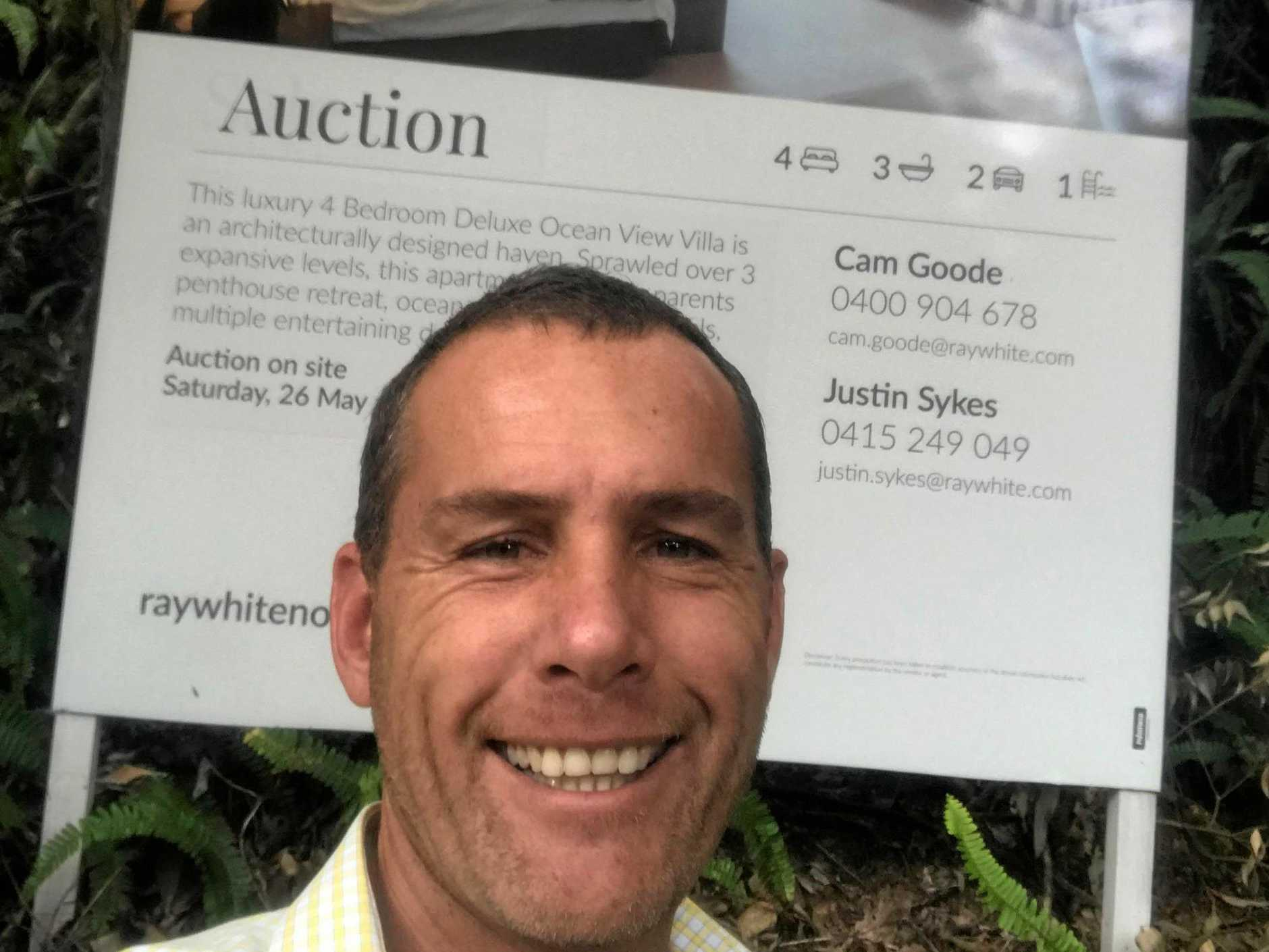 Cam Goode of Ray White Noosa at Villa 2111 Peppers Resort, Noosa Heads, that sold prior to auction.