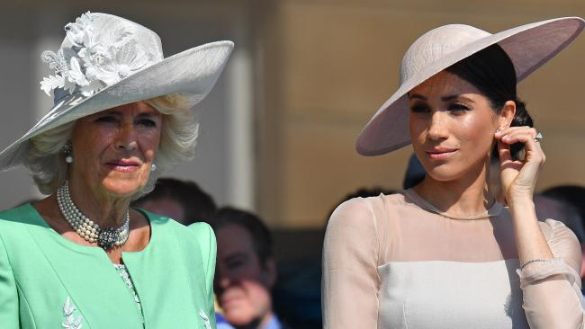 Camilla, Duchess of Cornwall had admitted she was transfixed by Meghan Markle's family drama. Picture: Getty Images)