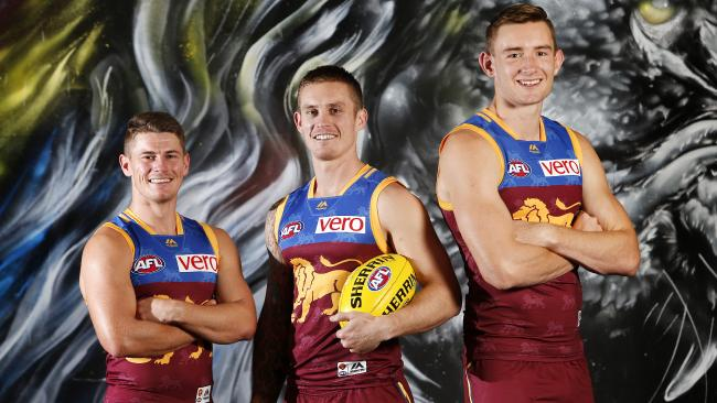 Brisbane leaders Dayne Zorko, Dayne Beams and Harris Andrews.