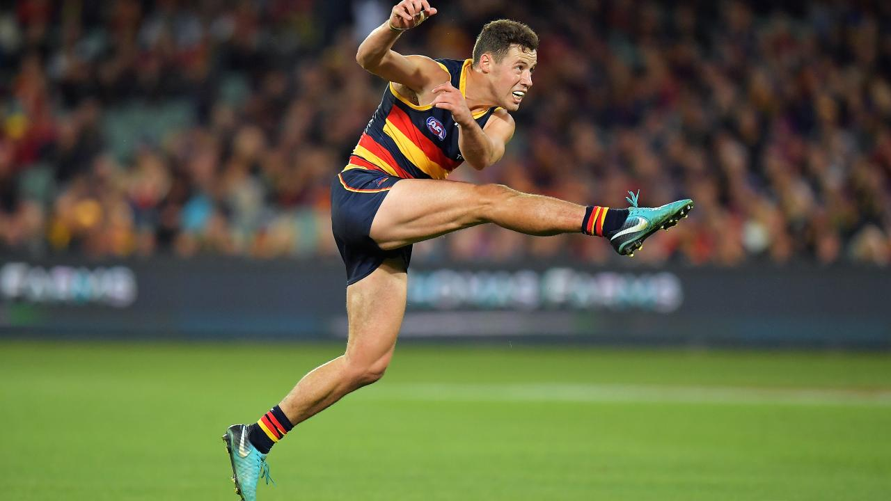 Adelaide's Paul Seedsman is providing plenty of drive while the Crows battle injury. Picture: Daniel Kalisz/Getty