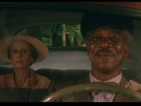 Jessica Tandy and Morgan Freeman in Driving Miss Daisy. Picture: Supplied