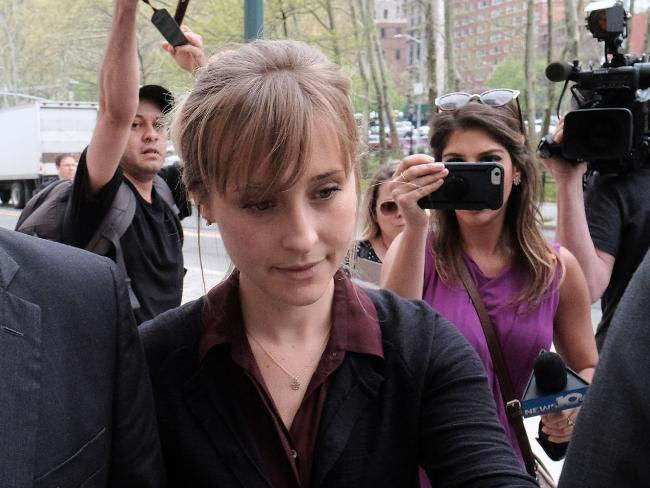 Actor Allison Mack arrives at the United States Eastern District Court in New York on May 4, 2018. Picture: Jemal Countess/Getty Images
