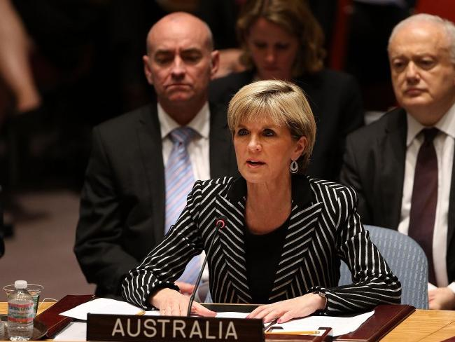 Australia's foreign minister Julie Bishop speaks during a meeting of the United Nations (UN) Security Council to discuss the MH-17 tragedy.