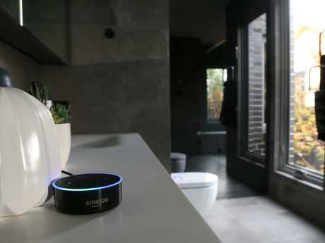 The Echo Dot in a bathroom of $1 million