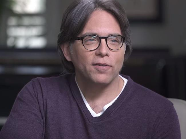 NXIVM founder, alleged cult leader and slave master Keith Raniere. Picture: Keith Raniere Conversations/Youtube