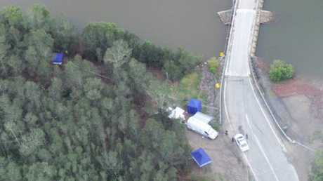 The section of the Pimpama River on the Gold Coast where Tiahleigh Palmer's body was found.