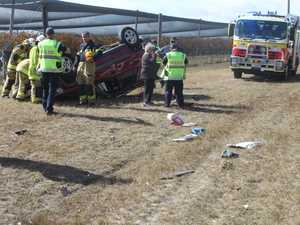 Man walks away from rollover outside Stanthorpe