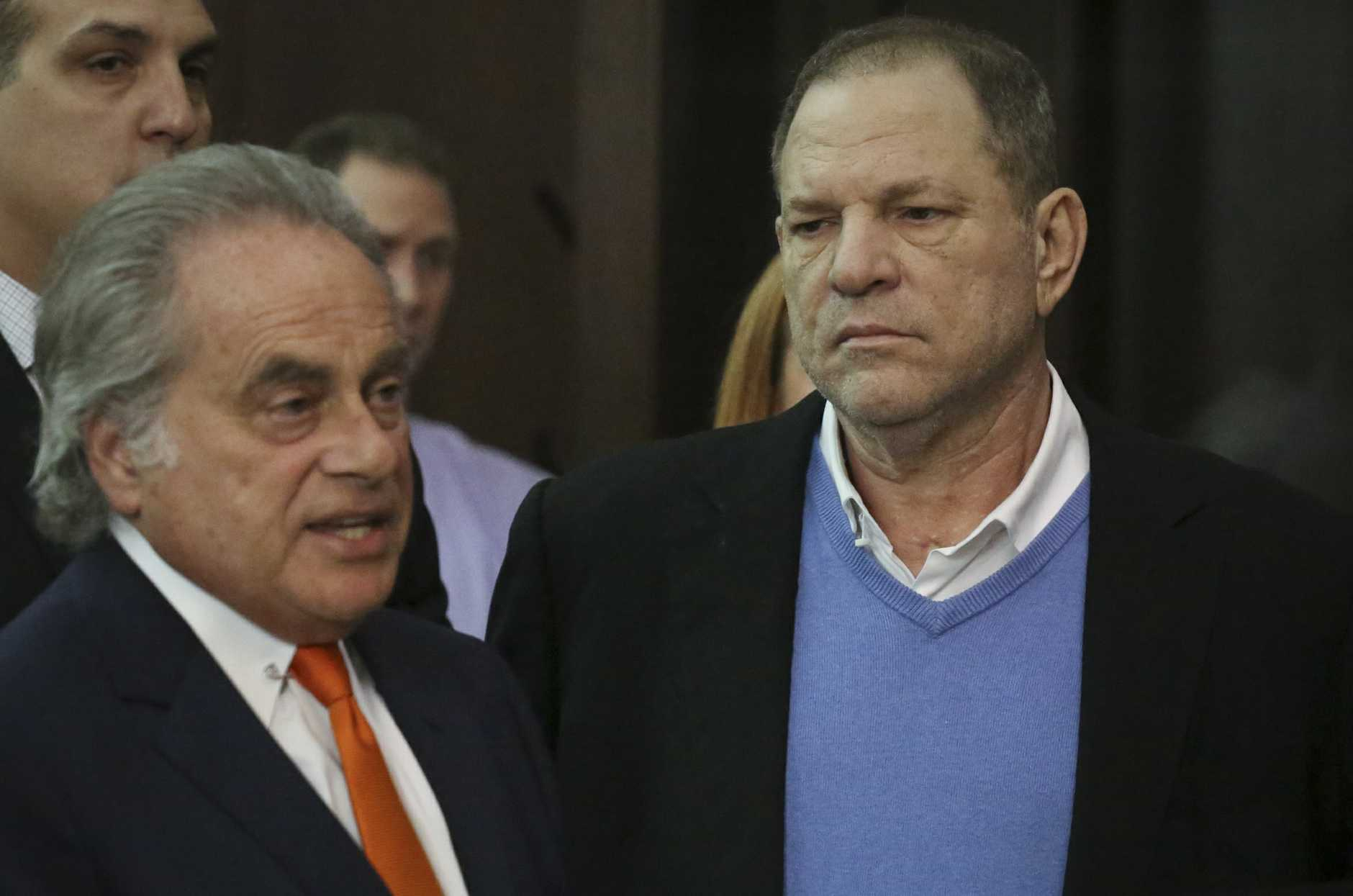 Harvey Weinstein, right, appears at his arraignment with his lawyer Benjamin Brafman, in a New York criminal court on Friday, May 25, 2018. Weinstein is charged with two counts of rape and one count of criminal sexual act. He was released on one million dollars bail.