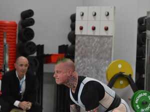 Gympie power lifter Nigel Daniel in action in the