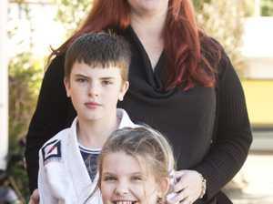Noah, Bella and Liz Whittall ( at back ). Saturday