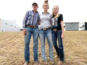 Cody Donovan, Clare Williamson and Courtney Sanim