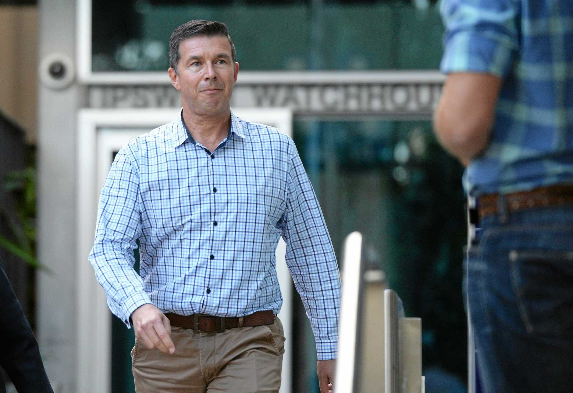 Ipswich Mayor Andrew Antoniolli leaves the Ipswich Watchouse on Wednesday afternoon.