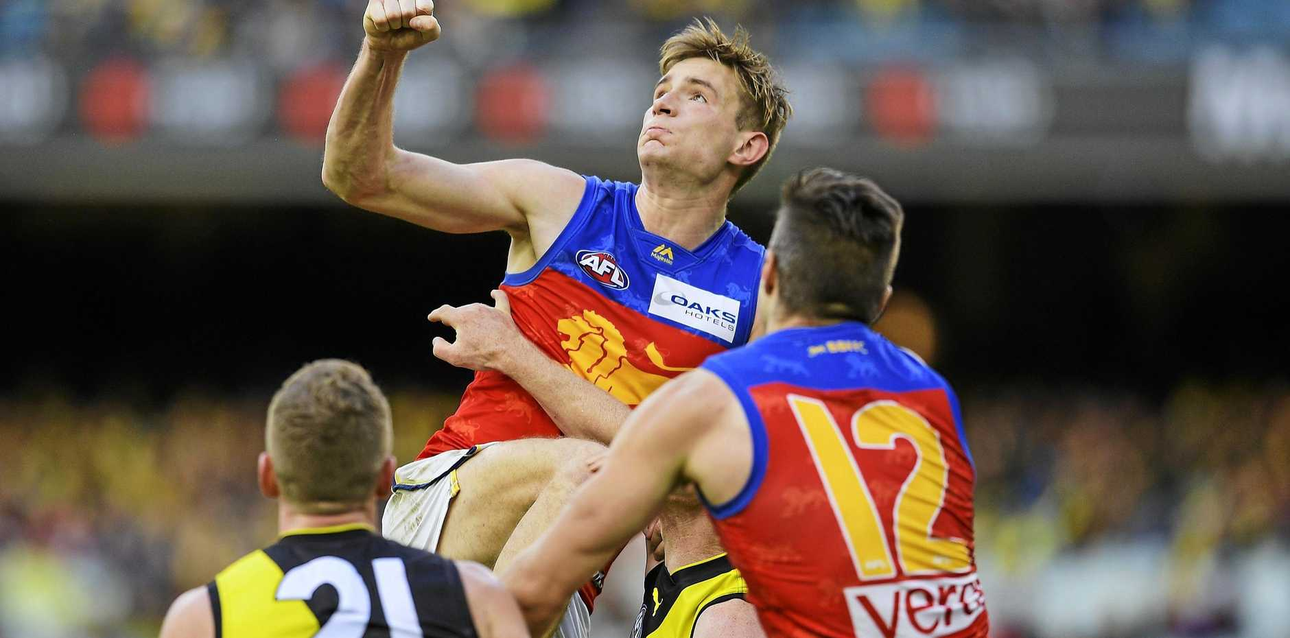 PACKING A PUNCH: Harris Andrews is enjoying a career-best season for the Lions.