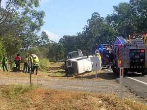 UPDATE: Woman hospitalised after Highway crash near Gympie