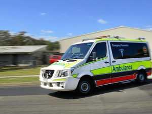 Man taken to hospital after falling from motorbike