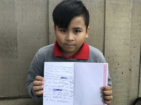 Giro, Ms Romulo's son who will be left in Australia if his mum and sisters are deported. Picture: Change.org