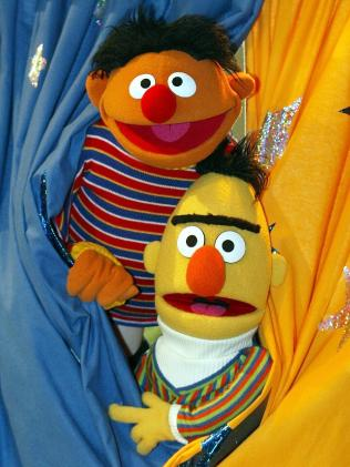 Sesame Street's famous resident puppets, Ernie and Bert. Picture: AP Photo/Christof Stache