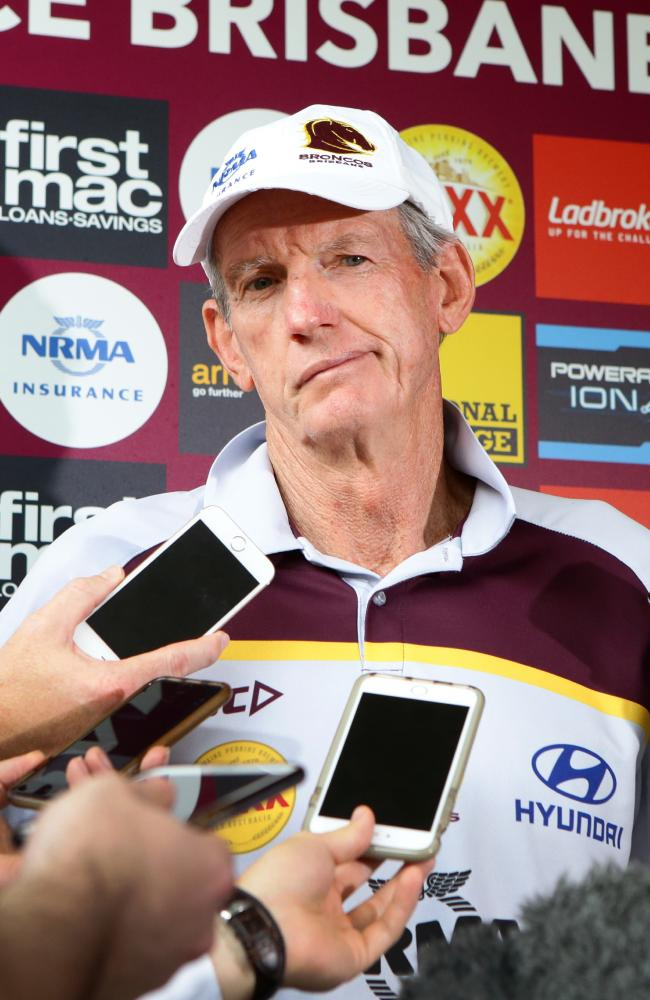 Wayne Bennett's critics will chuckle at the sense of poetic justice. Picture: Darren England