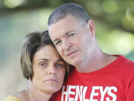 James Ackerman's devastated parents Sonya and Michael. Picture: Ric Frearson