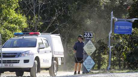 Police at Adventure Alternatives Education Centre at Woodford earlier this week. Picture: Megan Slade/AAP