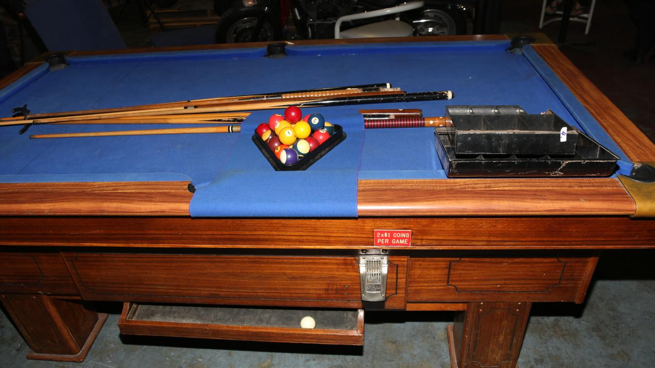 A pool table and other entertainment equipment was seized.