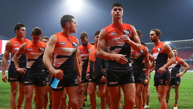 Where to now for GWS? That was the Giants' fourth loss in a row. Picture: Getty