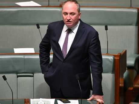 Former deputy prime minister Barnaby Joyce is now a backbencher. Picture: AAP Image/Mick Tsikas