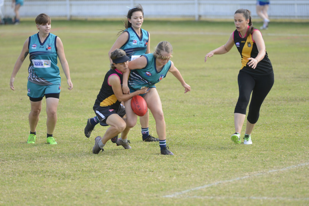 The Grafton Tigers took their first steps into AFL North Coast women's football on Saturday.