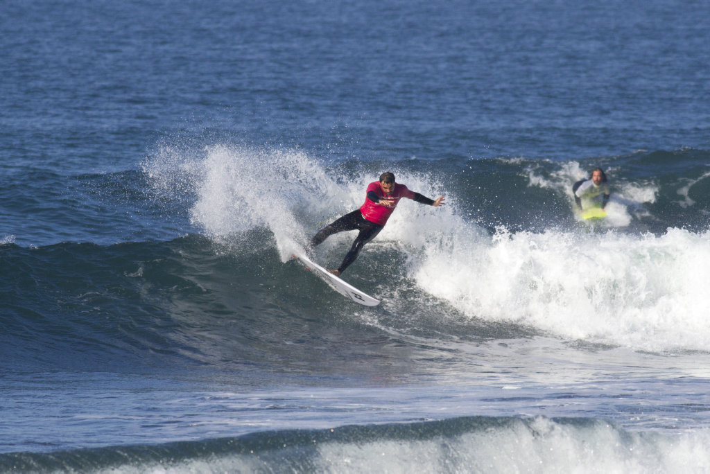 Coffs Harbour surfer Otis Carey attacks a Bells Beach wave during the Australian Indigenous Surfing Titles.