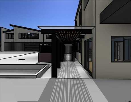 Concept art for the conversion of the historic Mort Estate Hotel into an office space for Mort and Co.
