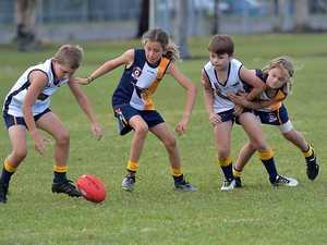 Junior U/10 Aussie Rules match between the Kawana