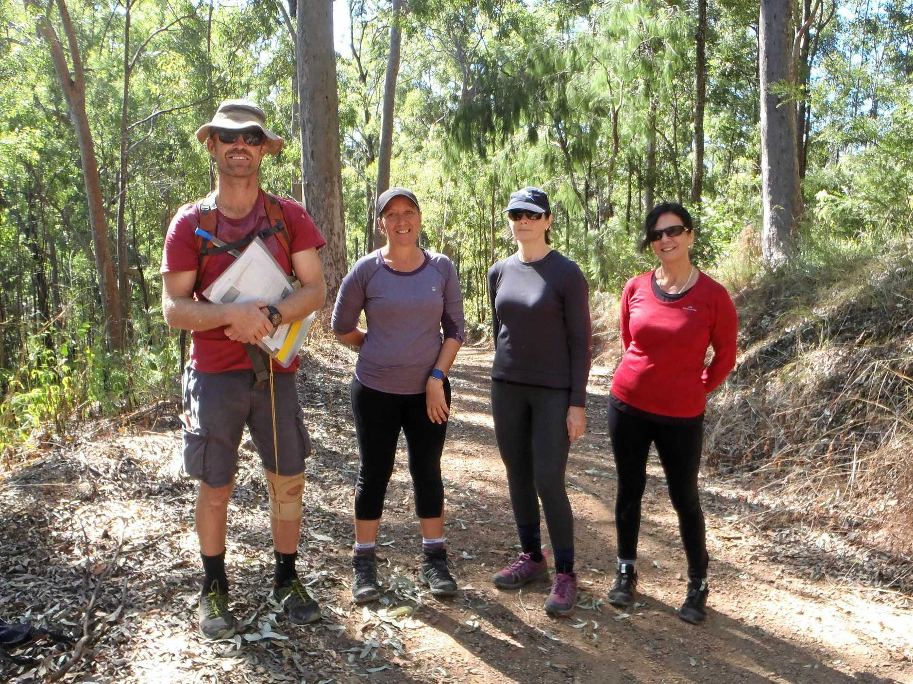 GET WALKING: Redbank resident Hans and his team who will take on the 100km endurance challenge of a lifetime in the Oxfam Trailwalker event. (From left) Hans Young, Caroline Susan Mita, Carmel Carver, Catherine Carter.