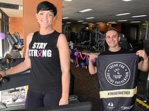 Why Firies are in full uniform and running on treadmills